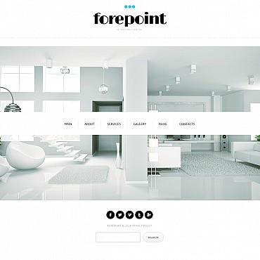 Interior Design Flash CMS Template #48120