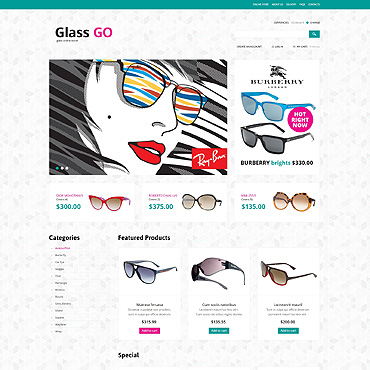 Eye Glasses VirtueMart Template