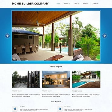 Construction Company Moto CMS HTML Template