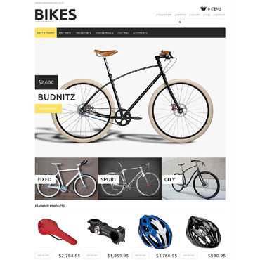 Cycling VirtueMart Template