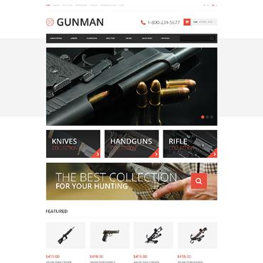 Gun Shop Responsive OpenCart Template