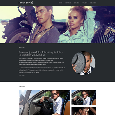 Fashion Blog Responsive Website Template