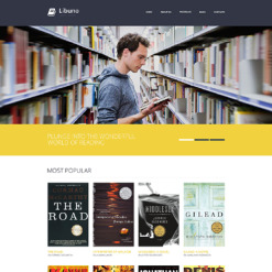 Library Responsive Website Template