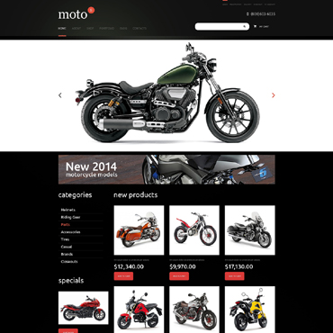 Bike Shop Responsive Jigoshop Theme