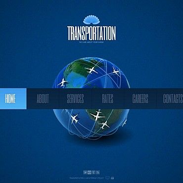 Private Airline Flash CMS Template
