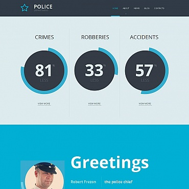 Police Moto CMS HTML Template