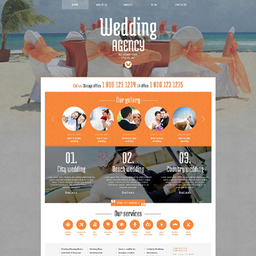 Wedding Planner Responsive WordPress Theme #48420