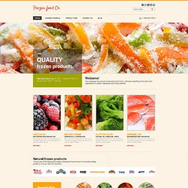 frozen food website templates. Black Bedroom Furniture Sets. Home Design Ideas