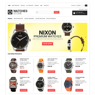 Watches ZenCart Template