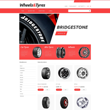 Wheels & Tires Responsive PrestaShop Theme