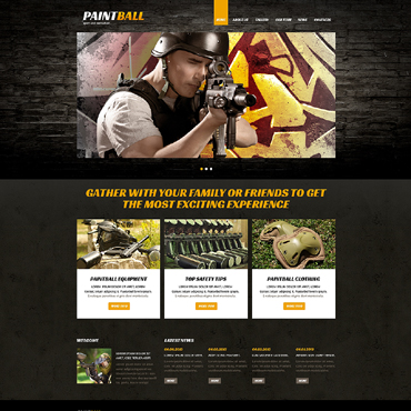 Paintball Responsive Joomla Template