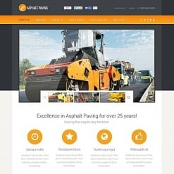 Industrial Flash CMS Template