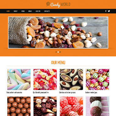 Sweet Shop Responsive Joomla Template