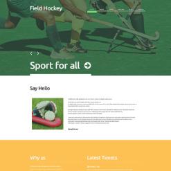 Hockey Responsive WordPress Theme