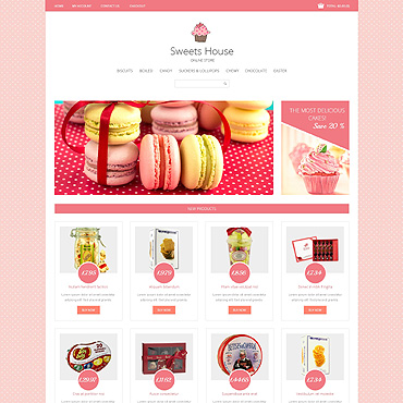 Sweet Shop Responsive Loaded7 Template