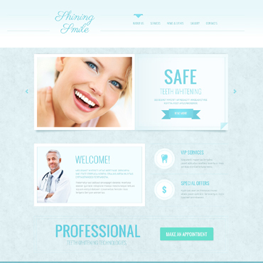 Dentistry Responsive Website Template #48808