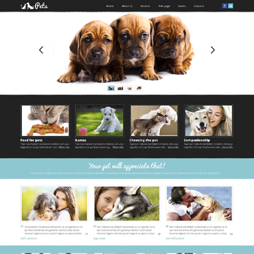 Animals & Pets Responsive Website Template