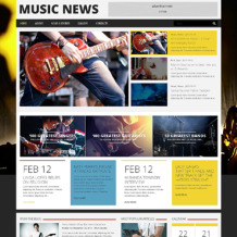 Music Portal Responsive WordPress Theme