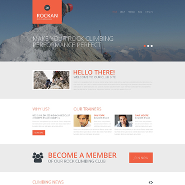 Climbing Responsive Website Template