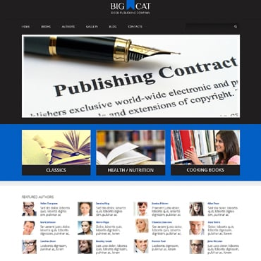 Publishing Company Responsive WordPress Theme