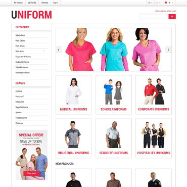 Security Responsive Magento Theme