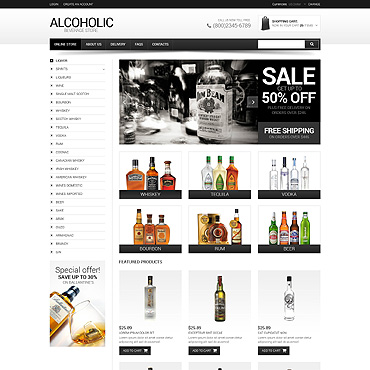 Food & Drink VirtueMart Template
