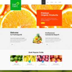 Fruit Responsive Joomla Template