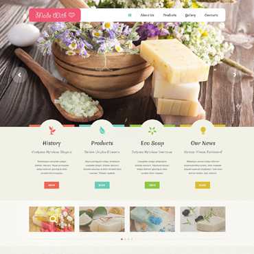 Crafts Responsive Website Template