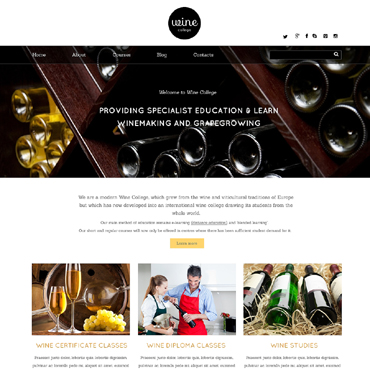 Wine Responsive Website Template