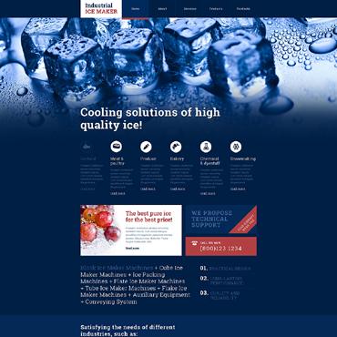 Water Responsive Website Template