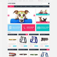 Pet Shop Responsive OpenCart Template