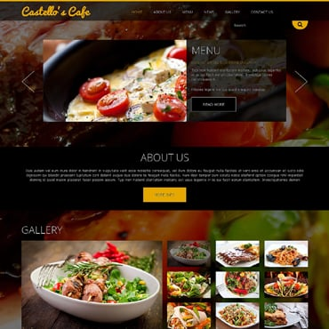 Cafe and Restaurant Responsive Joomla Template