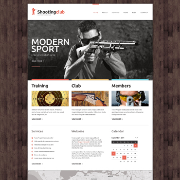Shooting Responsive Website Template