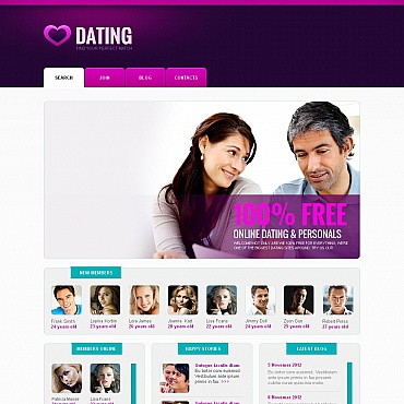 Dating Moto CMS HTML Template