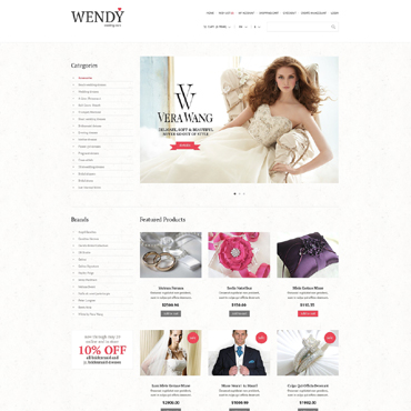 Wedding Shop Responsive OpenCart Template