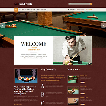 Billiards WordPress Theme