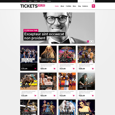 Tickets Website Responsive WooCommerce Theme