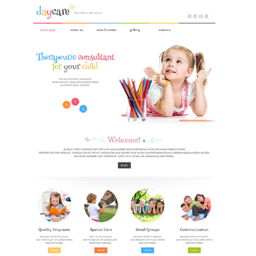 Kids Center Responsive WordPress Theme #49284