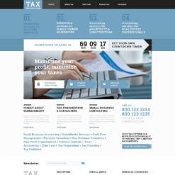 Accounting Website Responsive Website Template
