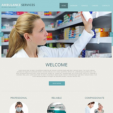 Ambulance Moto CMS HTML Template