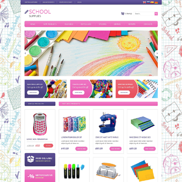 Stationery OsCommerce Template