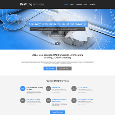 Drafting Responsive Website Template