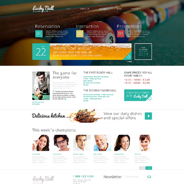 Billiards Drupal Template