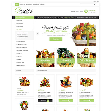 Gifts Website Template