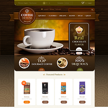 Coffee Shop PSD Template