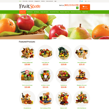 Fruit Gifts Store OpenCart Template #49580