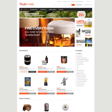 Brewery Responsive Magento Theme