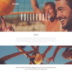 Volleyball Responsive WordPress Theme