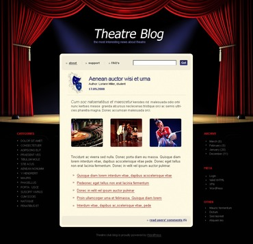 Theater PSD Template