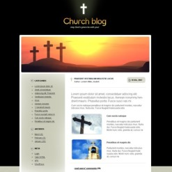 Religious PSD Template